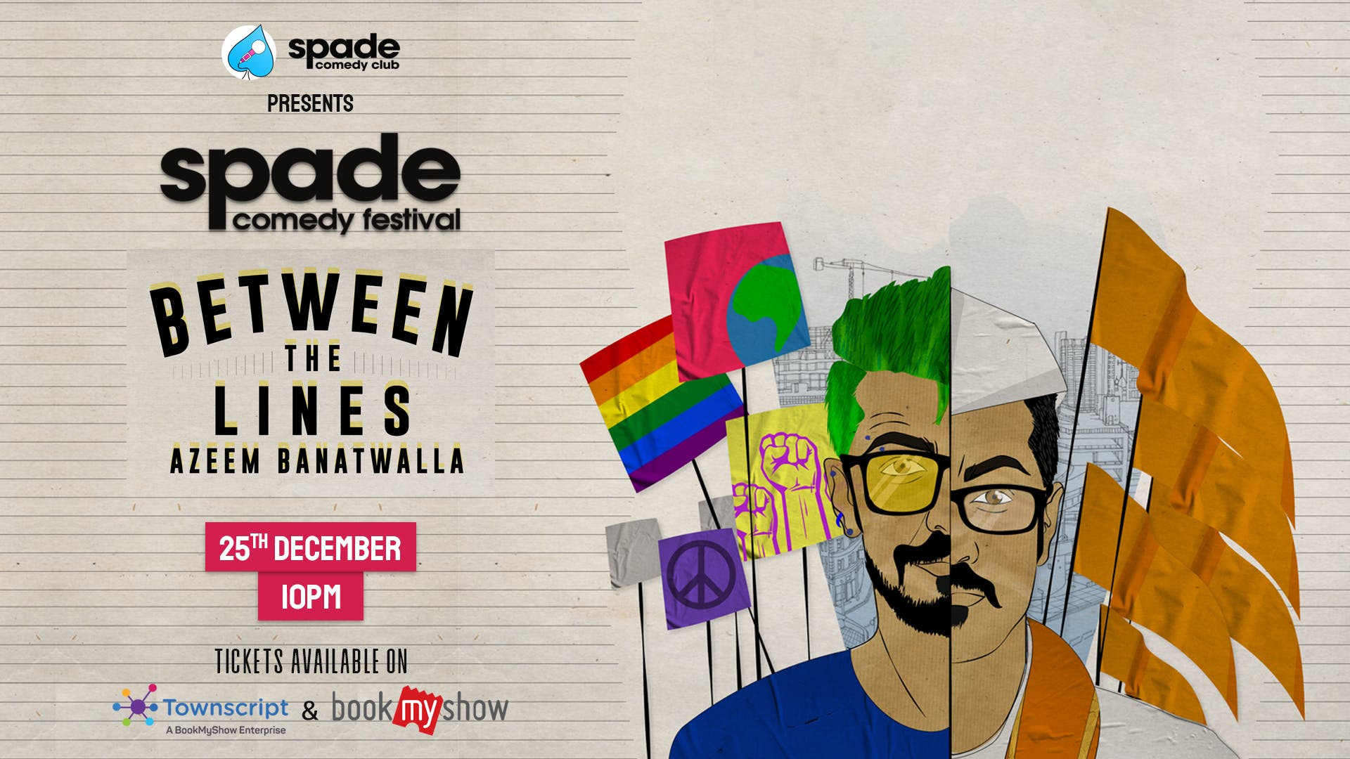 Between The Lines by Azeem Banatwalla at Spade Comedy Festival