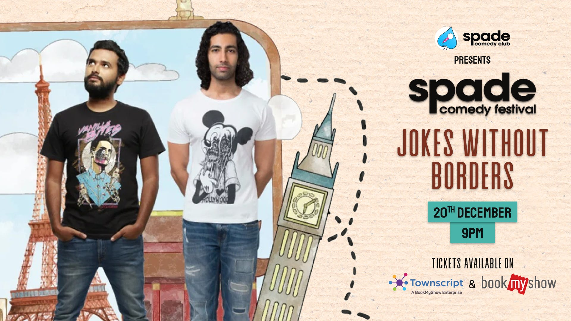 Jokes without Borders by Aadar Malik and Kautuk Srivastava at Spade Comedy Festival