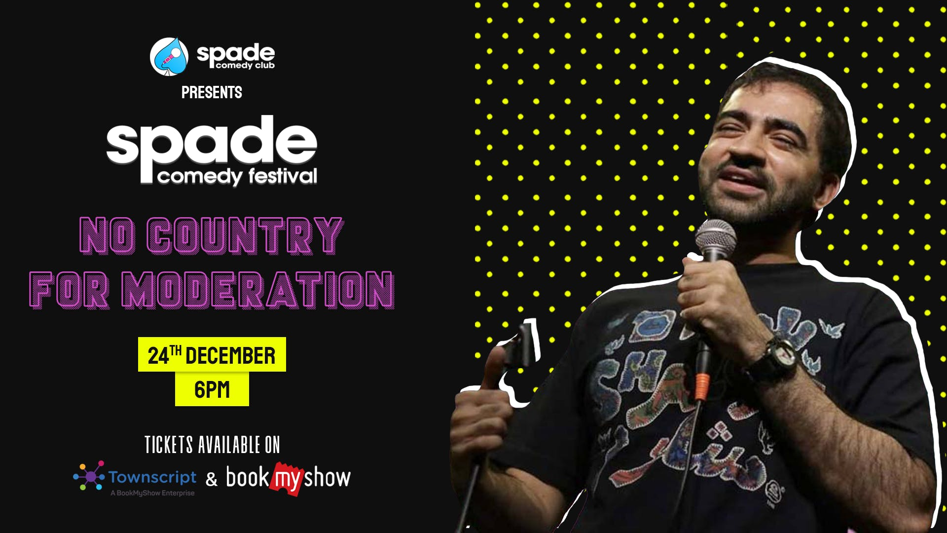 No Country for Moderation by Punit Pania at Spade Comedy Festival