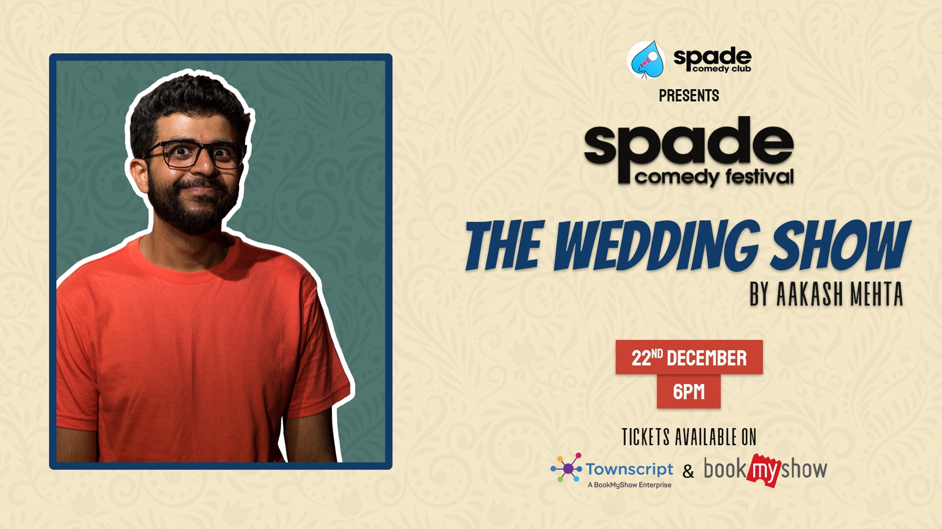 The Wedding Show by Aakash Mehta at Spade Comedy Festival