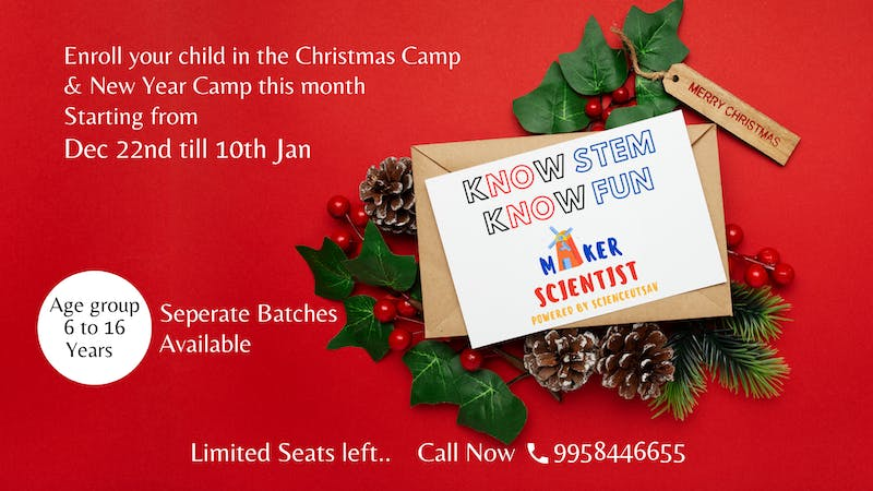 Christmas Show 2021 It Beginning Christmas Christmas Camp By Maker Scientist 10th Jan 2020 Tickets By Scienceutsav Sunday January 10 2021 Online Event